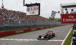 Ricciardo takes the chequered flag to win his first Formula 1 race